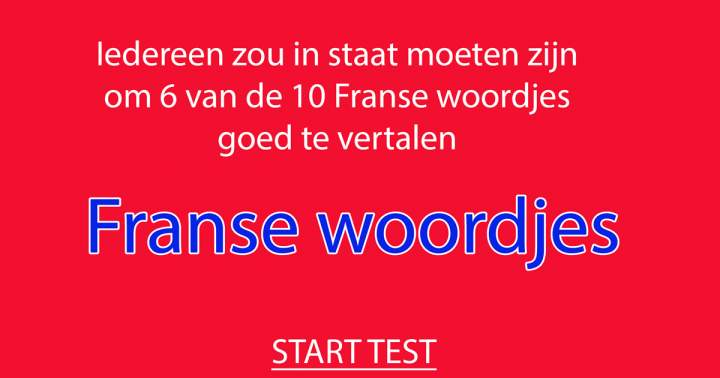 Quiz: Franse Woordjes Quiz