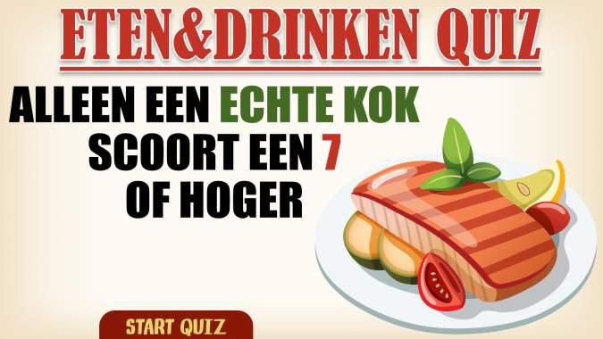 Eten & Drinken Trivia Quiz